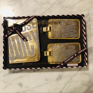 NWT! Juicy Couture Passport Case/ Luggage Tags